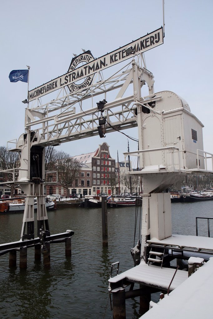 Stock Photo: 1566-1292358 godown of the old traders town Dordrecht, netherlands.