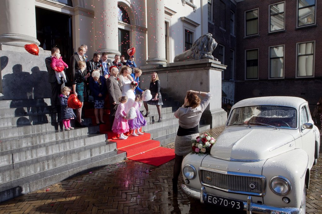 Stock Photo: 1566-1292580 wedding at the town hall in dordrecht, netherlands.