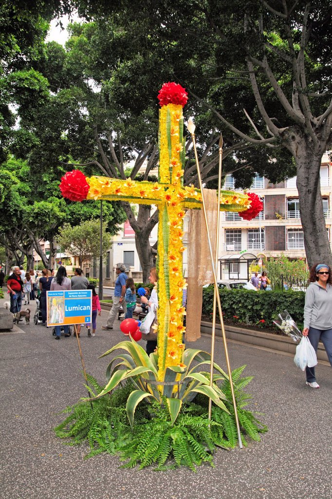 Springtime Cross Festival in Santa Cruz de Tenerife Spain : Stock Photo