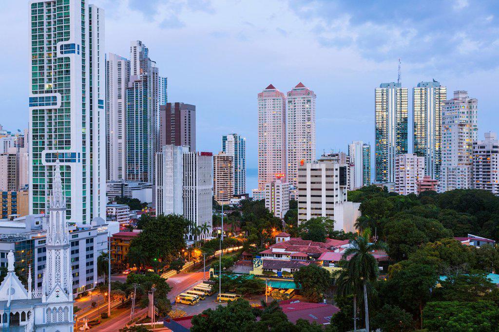 Stock Photo: 1566-1298484 Skyline, Panama City, Panama, Central America, America.