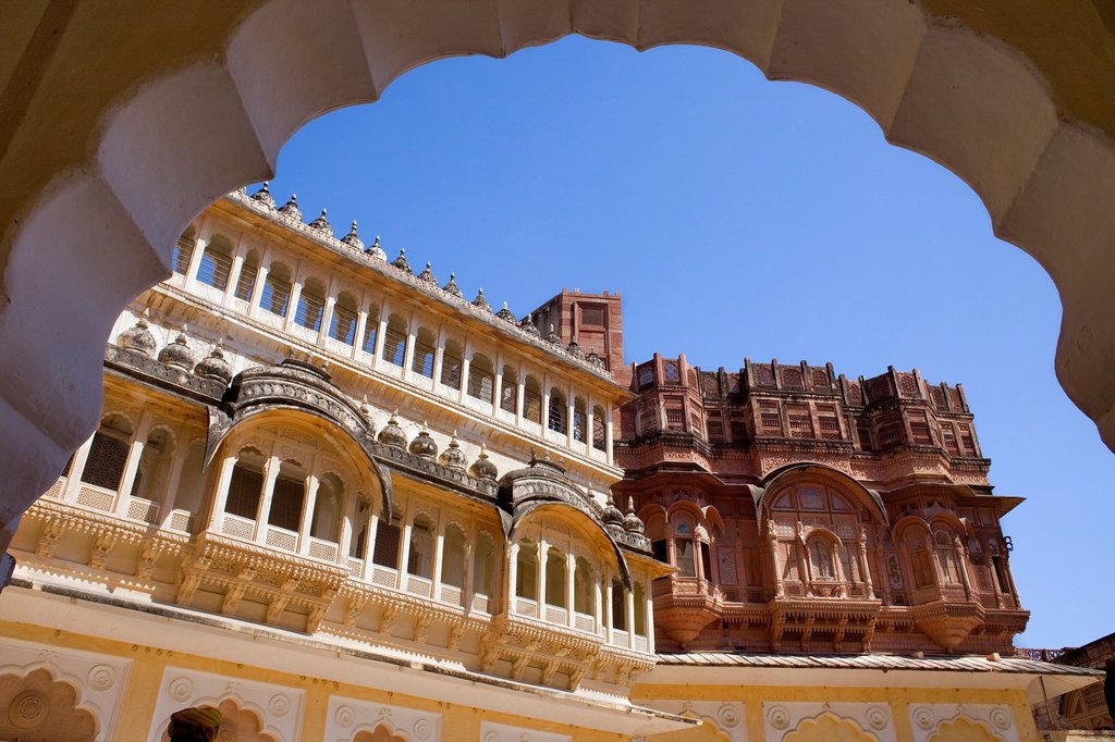 Stock Photo: 1566-1299421 Mehrangarh Fort,inside of the fort,Jodhpur, Rajasthan, India.