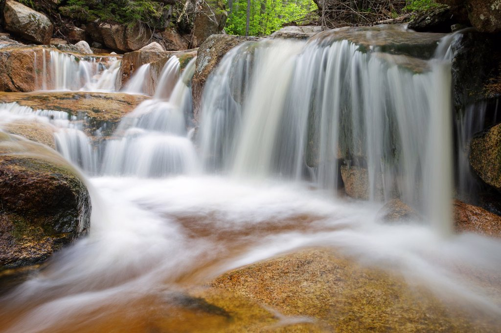 The South Fork of the Hancock Branch in the White Mountains, New Hampshire USA during the spring months. : Stock Photo