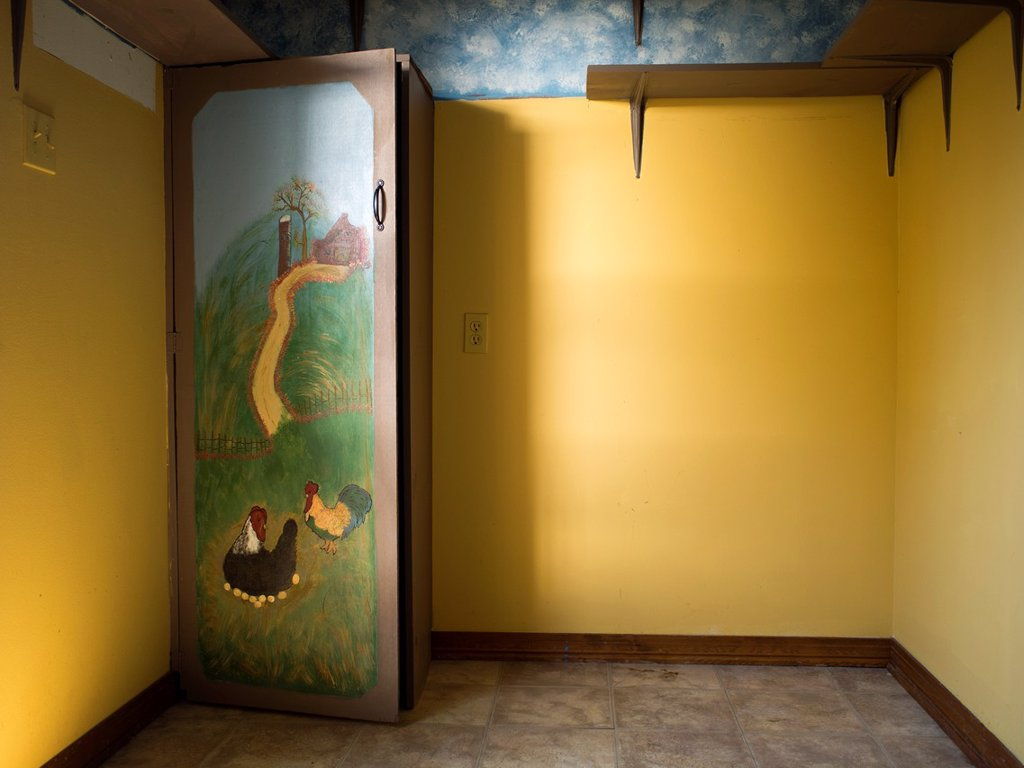 Stock Photo: 1566-1320338 Interior of a room with a cupboard inside a foreclosed home in Daphne, Alabama, United States.