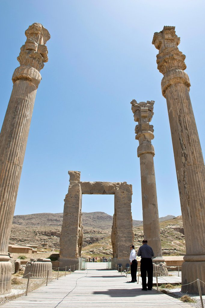 Asia, Iran, Persepolis, Archaeological site. : Stock Photo