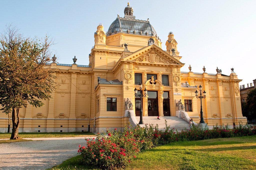 The Art Pavilion, Zagreb, Croatia. : Stock Photo