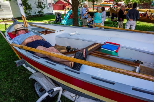 WoodenBoat Show Mystic Seaport Mystic Connecticut USA. : Stock Photo