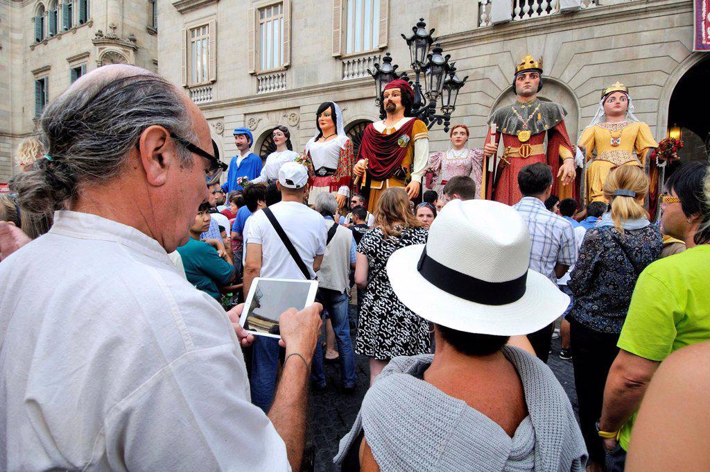 Stock Photo: 1566-1367888 . La Merce feast day. September 24. Barcelona. Catalonia. Spain.