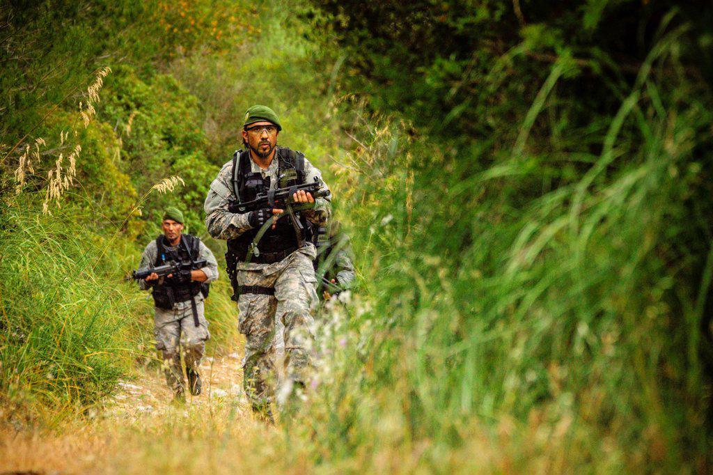 III tactical raid COPRINO-Bravo, Andratx, mallorca, Balearic Islands, spain, europe. : Stock Photo