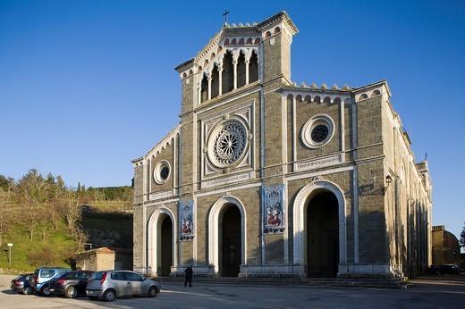 europe, italy, tuscany, cortona, st margherita sanctuary : Stock Photo