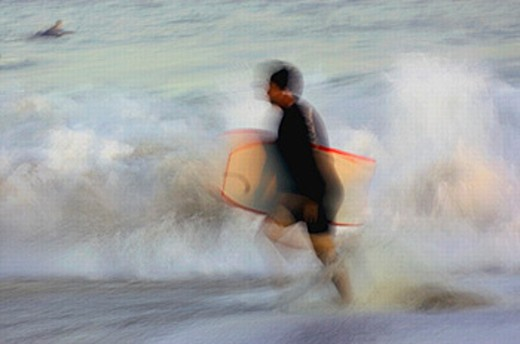 Boogie boarder : Stock Photo