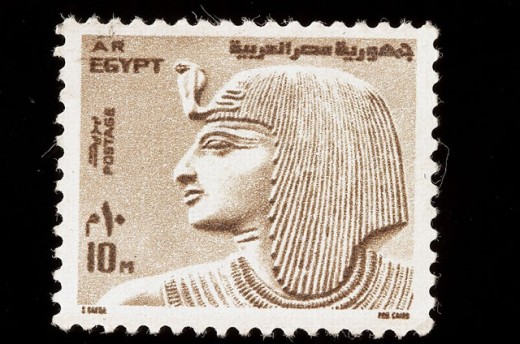 Old Egyptian stamp : Stock Photo