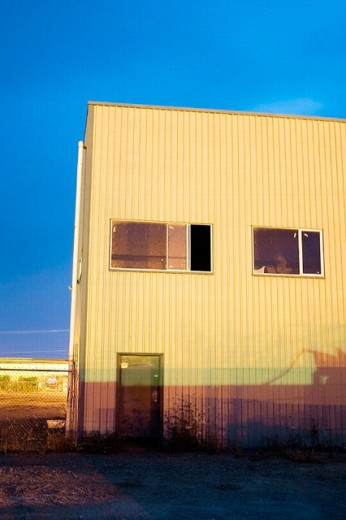 Industrial building in Sidney, British Columbia, 4 July 2005. Canada. : Stock Photo