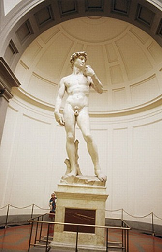 Stock Photo: 1566-249303 David, by Michelangelo, Galleria dell´Accademia. Florence. Tuscany, Italy