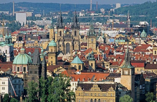 Stock Photo: 1566-249317 From Mala Strana. Prague. Czech Republic.