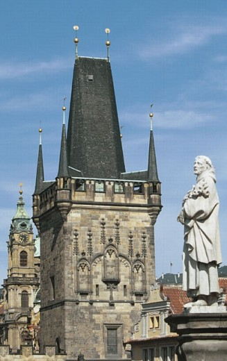 Charles Bridge. (Karluv Most). Prague. Czech Republic. : Stock Photo