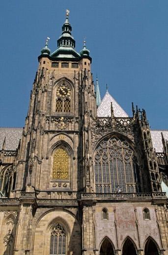 Saint Guy cathedral. Royal Castle (Prazsky Hrad). Prague. Czech Republic. : Stock Photo
