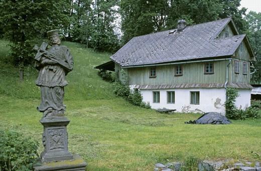 Wooden houses. Sudetes. Czech Republic. : Stock Photo