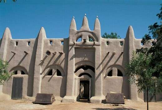 San mosque. Clay architecture. San. Mali. : Stock Photo