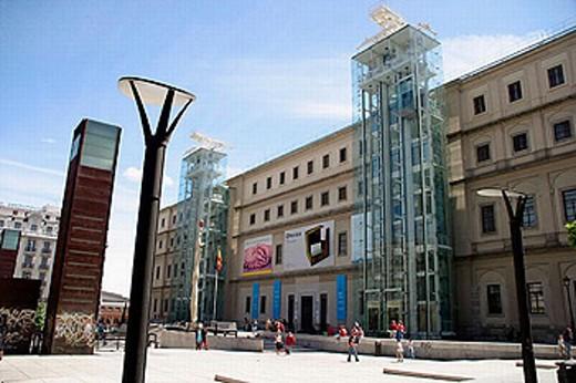 Museo Nacional de Arte Reina Sofía (national museum of contemporary art). Madrid. Spain : Stock Photo