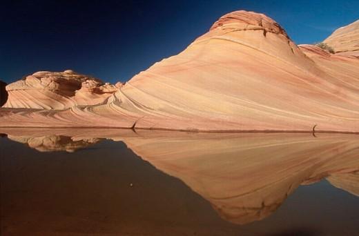 Sandstone formations, Second Wave. Paria Canyon Vermilion Cliffs Wilderness Area, Arizona, USA : Stock Photo