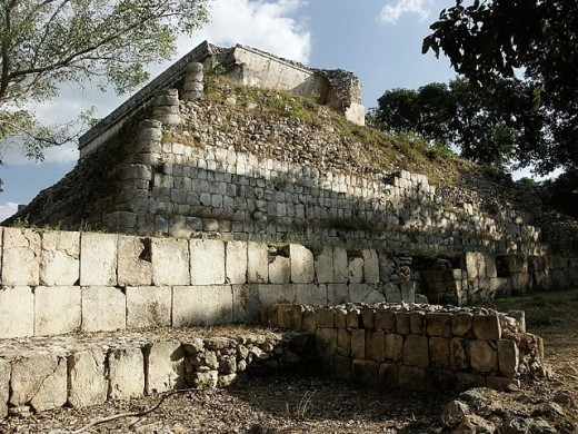 Uxmal, Pre-Columbian ruined city of the Maya civilization (late Classic period 600 - 900 A.D.). Yucatan, Mexico : Stock Photo