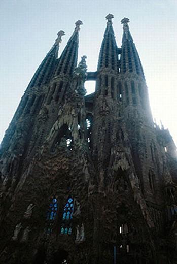 Stock Photo: 1566-251465 Sagrada Familia temple by Gaudí, Barcelona. Catalonia, Spain