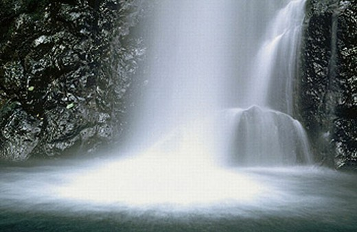 Stock Photo: 1566-251760 Waterfall. Multnomah Falls. Columbia River Gorge. Oregon. USA.