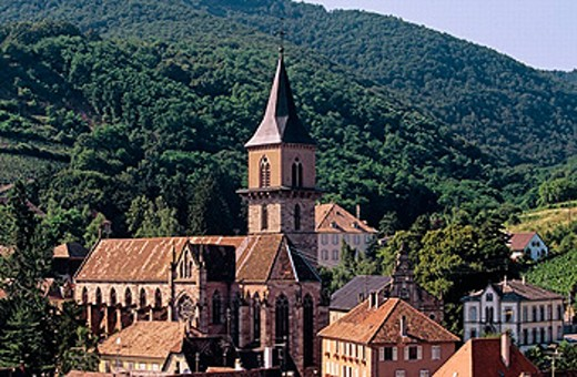 General view. Ribeauville. Haut-Rhin. Alsace. France. : Stock Photo