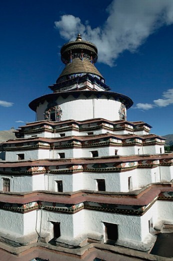 Kumbum stupa of the Pelkor Chode monastery, Gyantse. Tibet : Stock Photo