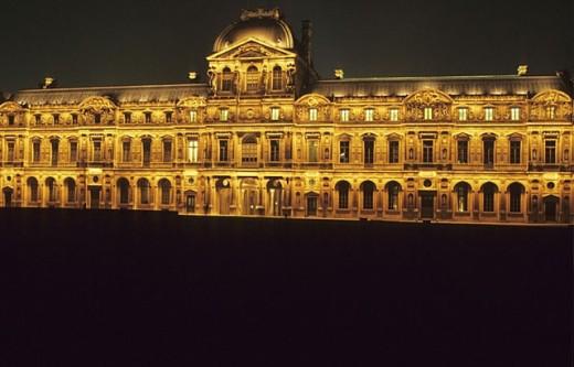 Stock Photo: 1566-252396 Square court (Cour Carrée). The Louvre. Paris. France.