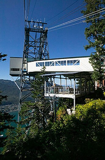 Stock Photo: 1566-252841 Tram Station. Mt. Roberts. Daytime. Juneau. Southeast Alaska. USA.