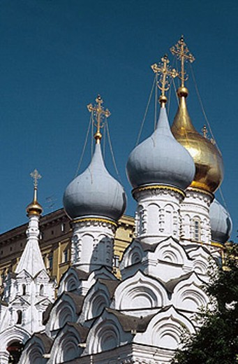"Church of St. Nicolas ""v Pyzhah"", (1657-1670), Moscow, Russia : Stock Photo"
