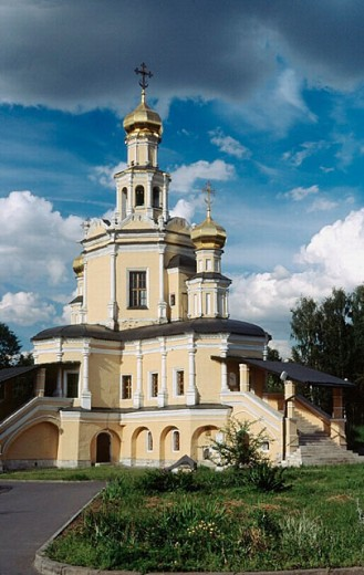 Stock Photo: 1566-253021 Church of St. Boris and St. Gleb, 1686, architect Bukhvostov, Zuzino, Moscow, Russia