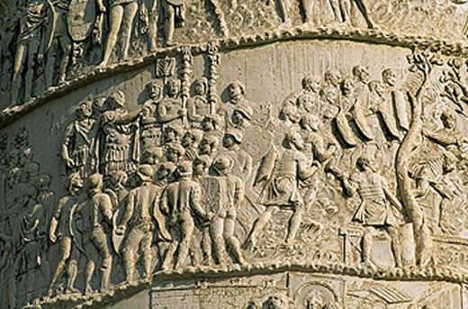 Trajan´s Column. Trajan´s Forum. Rome. Italy. : Stock Photo