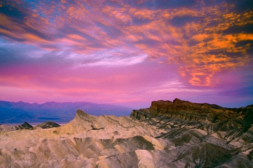 Manly beacon. Zabriskie Point. Death Valley NP. California. USA : Stock Photo