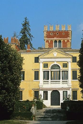 Villa Albertini. Garda. Garda Lake. Veneto. Italy. : Stock Photo