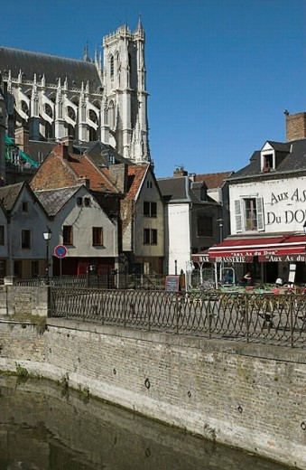 Stock Photo: 1566-254945 View of the town of Amiens and the Cathedral. Amiens. France