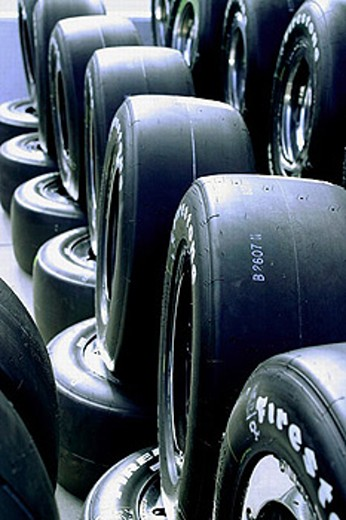 Stock Photo: 1566-255020 Firestone tires. Texas Motor Speedway , Ft. Worth, Texas, USA