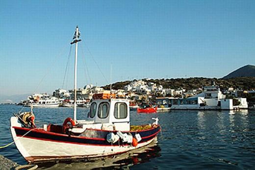 Elounda, Crete, Grece : Stock Photo