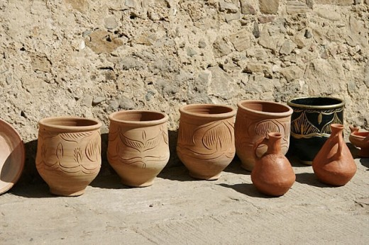 Pottery vessels. Asilah. Morocco. : Stock Photo