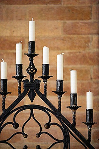 Stock Photo: 1566-255619 Candelabra in the Church of Santa Maria Gloriosa dei Frari. Venice. Italy