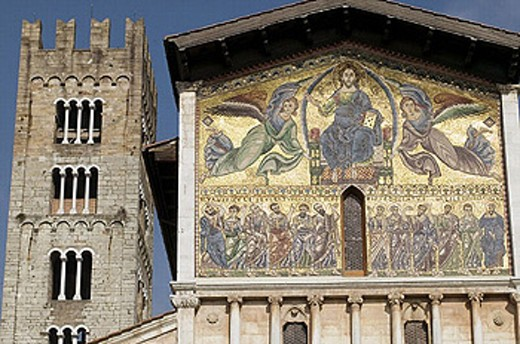 Stock Photo: 1566-256341 Basilica of San Frediano, Lucca. Tuscany, Italy