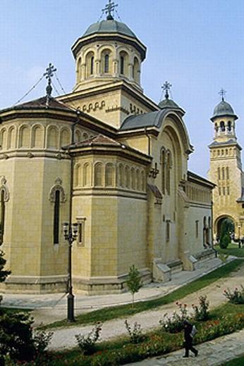 Cathedral, Alba Iulia (Gyulafehérvár). Romania : Stock Photo