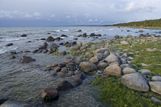 Stock Photo: 1566-257488 Stone beach on Baltic coast, Saaremaa island. Estonia