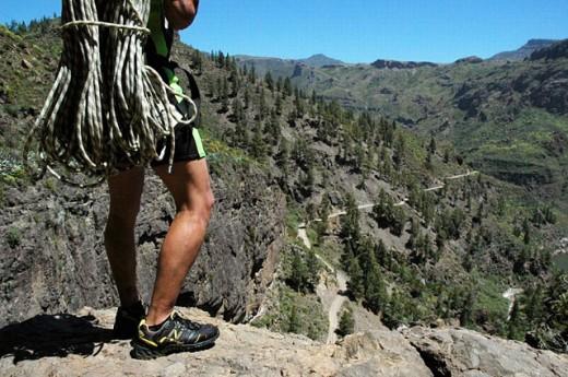 Rapel in Caidero de la Presa de las Niñas. Cumbres region. Gran Canaria. Canary Islands. Spain : Stock Photo