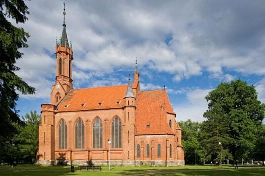 Catholic church, Druskininkai. Lithuania : Stock Photo