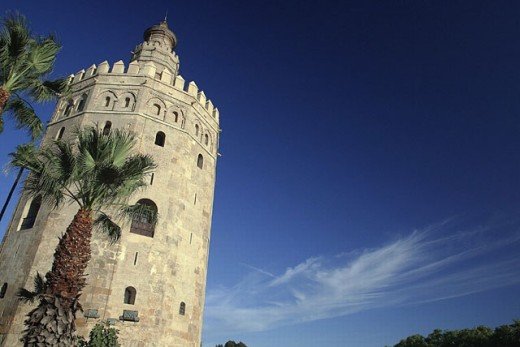 Torre del Oro, Sevilla. Andalusia, Spain : Stock Photo