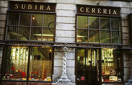 Stock Photo: 1566-258371 Subirà Wax-Chandler´s Shop. Baixada Llibreteria street. Barcelona. Catalunya. Spain.