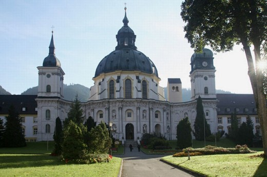 Ettal monastery. Bavaria, Germany : Stock Photo
