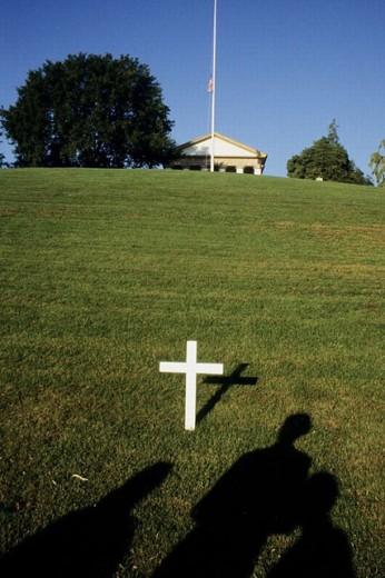 Robert Kennedy´s grave, Arlington National Cemetery. Virginia, USA : Stock Photo